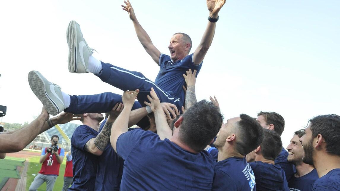 Le foto della festa promozione della squadra toscana tornata in Serie A