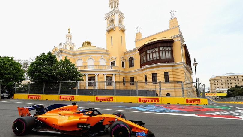 F1 Azerbaijan, raffiche di vento: possibile partenza dietro le safety car