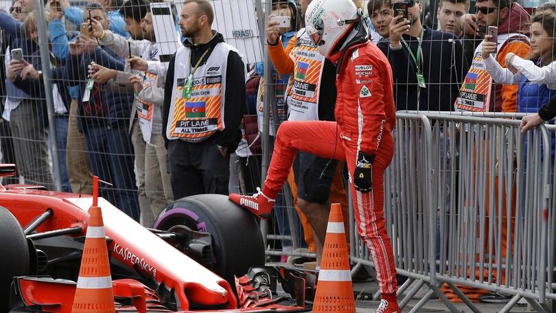 F1 Azerbaijan, Vettel: «Peccato, non ho esagerato su quel sorpasso»