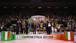 Volley: A1 Femminile, delirio Conegliano, è scudetto !