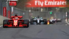 F1, Vettel quarto a Baku ma ancora favorito per il titolo