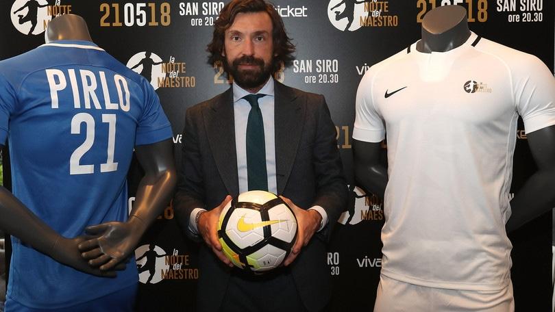 """Addio al calcio di Pirlo, la """"Notte del Maestro"""": ecco i convocati"""