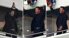 Atletico Madrid, Simeone in tribuna sembra un leone in gabbia