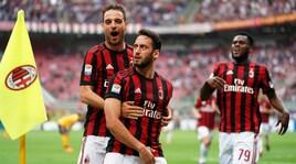 Milan show a San Siro, il Verona va in serie B