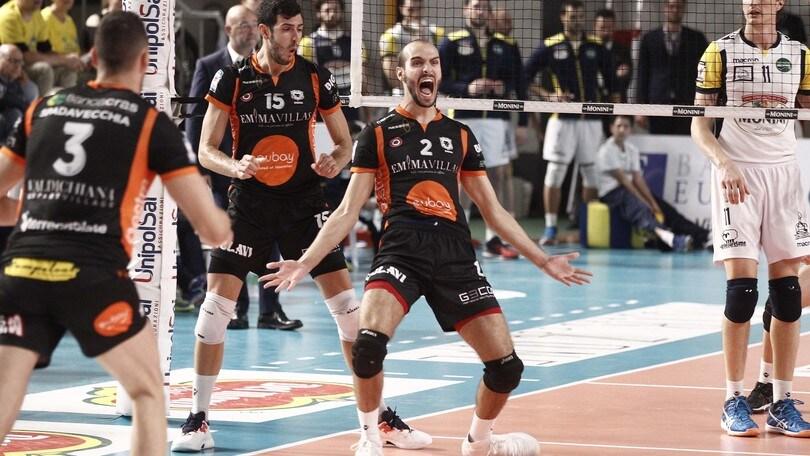 Volley: A2 Maschile, Finale Play Off: Siena espugna Spoleto e va 2-0