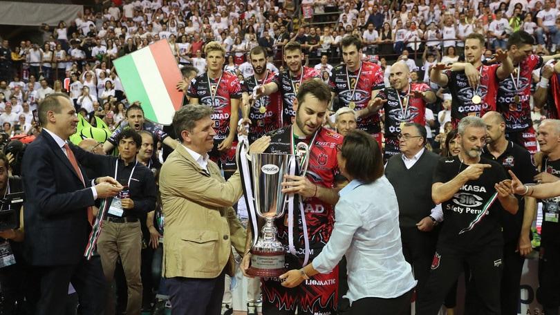 Volley: Superlega, Perugia scrive la storia: conquistato il primo scudetto