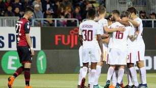 Cagliari-Roma 0-1: la rasoiata di Ünder, le parate di Alisson