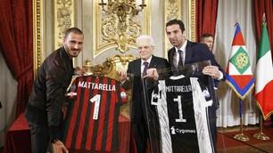 Juventus e Milan ricevuti al Quirinale da Mattarella