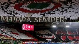 Juventus-Milan, le coreografie della finale
