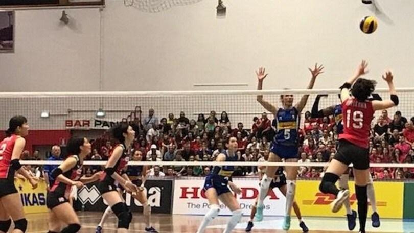 Volley: riscatto delle azzurre: battuto il Giappone