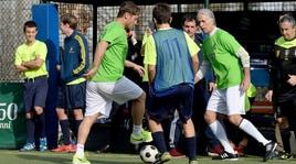 Totti e Malagò vincono il torneo di calcio a 5 al Circolo Canottieri Aniene