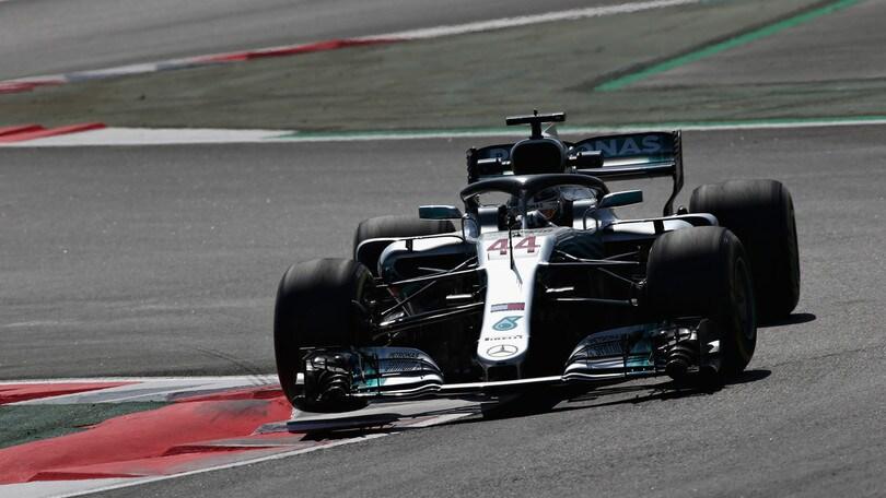 F1 Spagna, Libere 3: dominano le Mercedes, Vettel 3°