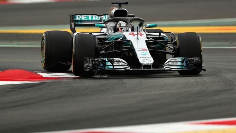 F1, griglia di partenza Gp Spagna: Hamilton in pole, Vettel 3°