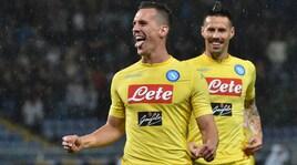 Serie A, Sampdoria-Napoli 0-2: Milik e Albiol firmano il record di punti