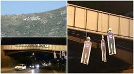 Manichini del Napoli impiccati a Mondragone: «Avevano un sogno nel cuore»