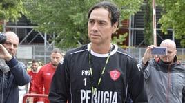 Serie B Perugia, Nesta dirige la seduta di allenamento