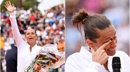 Internazionali Bnl d'Italia, Roberta Vinci riceve 21 rose rosse per il suo addio al tennis