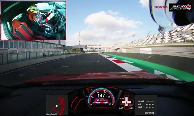 Honda Civic Type R, on board nel giro record