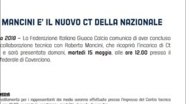 Ufficiale: Roberto Mancini è il nuovo Ct dell'Italia