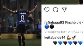 Lazio, il messaggio di Keita a Rafinha divide i social