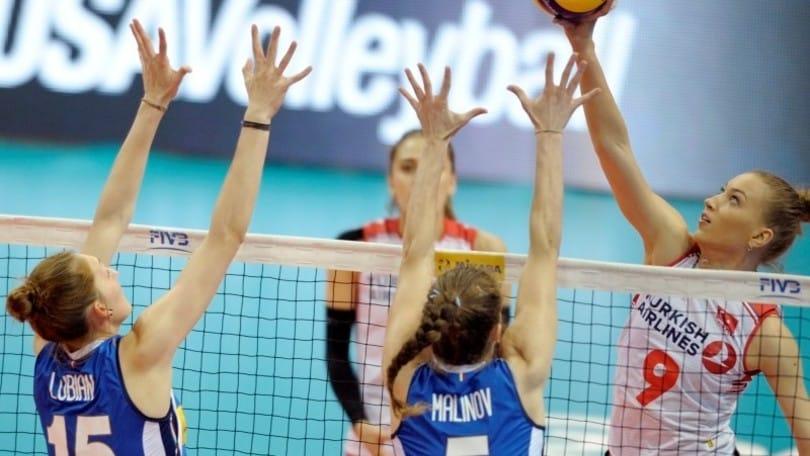 Volley: l'Italia di Mazzanti travolta dalla Turchia