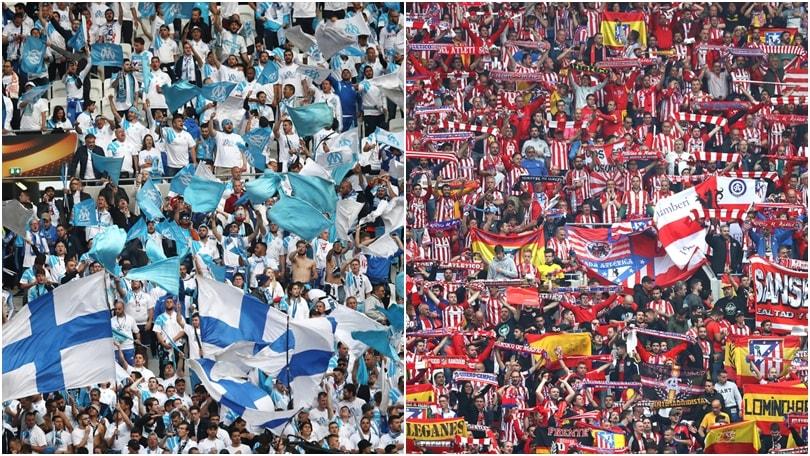 Finale di Europa League, lo show dei tifosi nel pre-partita