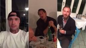 Totti scherza, De Sanctis canta: la Roma si diverte a cena