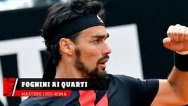 Tennis, Fognini ai quarti a Roma