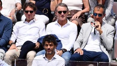 Roberto Mancini agli Internazionali per tifare Fognini