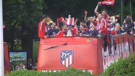 Madrid, la grande festa dei colchoneros