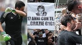 Juventus-Verona, emozioni e lacrime perl'ultima partita di Buffon