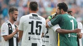 Serie A, Juventus-Verona 2-1: gol di Rugani, Pjanic e Cerci nel Buffon-day