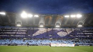 Lazio-Inter, la coreografia e il volo di Olimpia