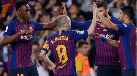 Iniesta si congeda dal Barcellona con l'ultima vittoria