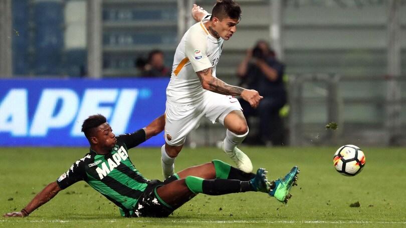 Serie A Sassuolo-Roma 0-1, il tabellino