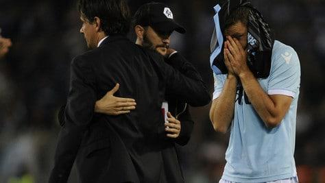 Lazio, le lacrime di De Vrij e la disperazione di Milinkovic-Savic