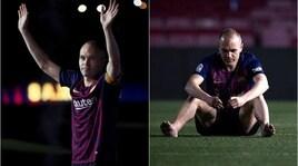 Barcellona, l'intimo saluto di Iniesta al Camp Nou
