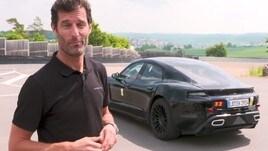 Porsche, l'ex F1 Webber entusiasta della super elettrica Mission E