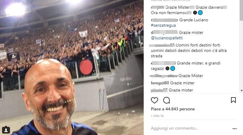 Inter, Spalletti: «Il selfie che sognavo»