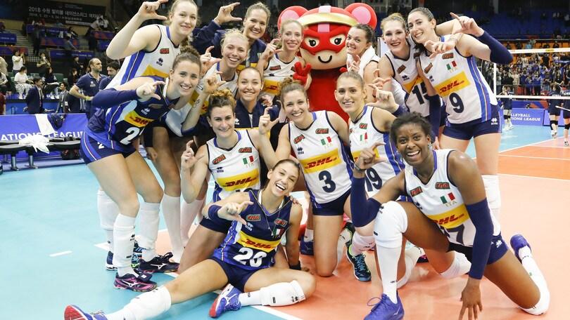 Volley: Volleyball Nations League, l'Italia batte anche la Corea del Sud