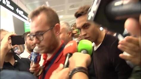 Inter, l'arrivo di Lautaro Martinez a Malpensa