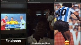 Italia, Balotelli e Insigne guardano Real-Liverpool a Coverciano con... Maradona (FOTO)
