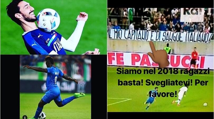 Balotelli dedica il gol ad Astori e replica allo striscione razzista