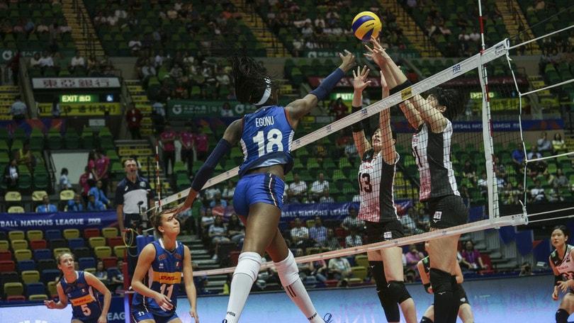 Volley: Volleyball Nations League, per l'Italia brutta sconfitta con il Giappone