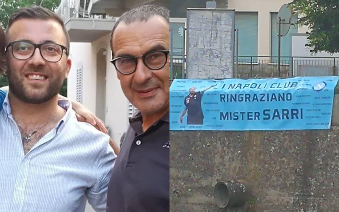 I tifosi del Napoli sotto casa di Sarri