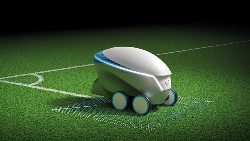 Pitch-R, il robot Nissan che disegna i campi di calcio
