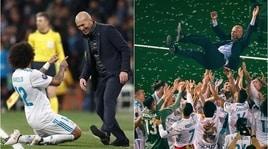 Addio Zidane: i giocatori delReal Madrid salutano il tecnico