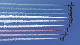 Moto: Frecce tricolori colorano Mugello