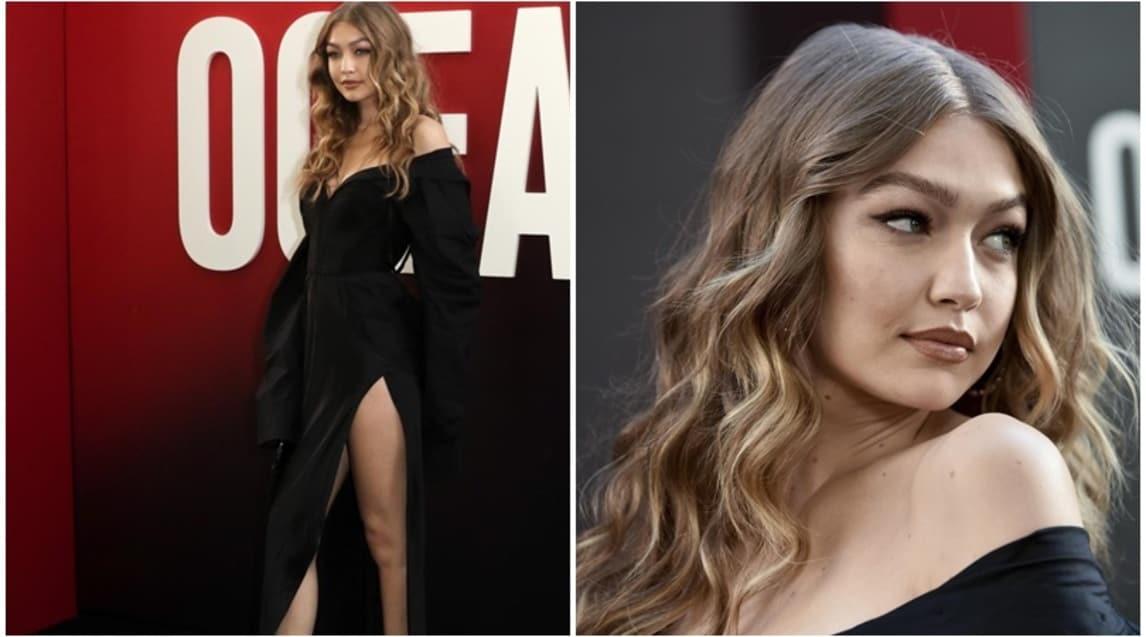"""La modella dà spettacolo a New York per la prima del film """"Ocean's 8"""""""