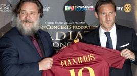 """Roma, Totti all'evento """"Gladiatore In concerto"""""""